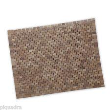 Tappeto pedana arrotolabile 60x78 cm per piatto box doccia in teak naturale ibb