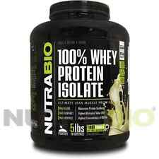 WHEY PROTEIN ISOLATE -VANILLA 5 LB- FAT & LACTOSE  FREE