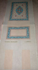 Vintage HP Hand Painted Needlepoint Canvas ~ L Caron Persian Medalion Rug Set