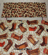 New Cowboy Boots Western Rope Valances Curtains Window