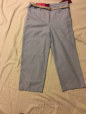 212 Collection: Women Natural Fit Capri Pants, Belt, Comfort Waist: 14