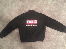 WJBK Fox 2 Detroit TV Staff Genuine Leather Varsity Jacket Television