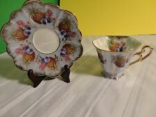 Vintage Tea Cup and Saucer - Beautiful Iridescence - Shafford - Hand Decorated