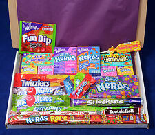 American Candy Gift Box - Retro Sweets - Birthday Present - Hamper - Twizzlers