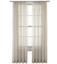 "*MarthaWindow Voile Rod-Pocket Sheer Curtain Panel 60""Wx108""L Sullivan Khaki NEW"