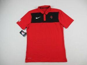 Houston Rockets Nike Polo Shirt Men's Red Dri-Fit NEW Multiple Sizes