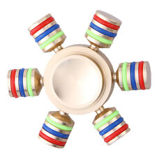 6 Side Fidget Hand Spinner Finger Brass Toy EDC Focus ADHD Anxiety Stress Relief