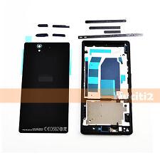 Full Battery Housing LCD Bezel Frame Cover For Sony Xperia Z C6602 C6603 C6606