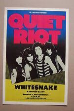 Quiet Riot Concert Tour Poster 1987 Lansing Civic Center Whitesnake