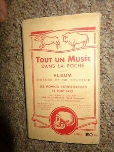 Eyzies-de -Tayac TOUT UN MUSEE DANS LA POCHE France SOUVENIR FOLD OUT C1950