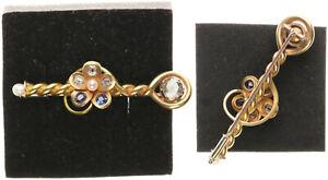 Broche Oro 585 ,Con Diamantes, 7g, Aprox. 6cm Grande