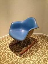 BLUE EAMES CHAIR Alexander Girard Naugahyde on Fiberglass Herman Miller Rocker