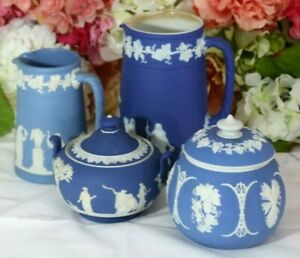 Antique Wedgwood Jasper Group, and Dudson (4)