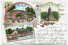 Postkarte um 1900 :  Grünau bei Berlin mit Restaurant G.Stein