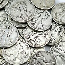 Lot of 5 Walking Liberty Silver Half Dollars    From estate sale--- random dates