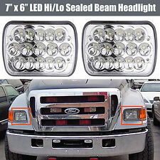 "7''X6"" LED Headlight Upgrade for Ford Super Duty Truck F550 F600 F650 F700 F750"