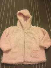 Baby Girl Furry Pink Jacket 9-12 Months Hood