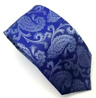 "Ben Sherman Men's Tie Blue Paisley Slim 100% Silk 3"" Width 59"" Long"