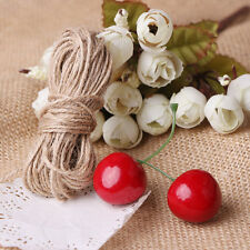 10M Natural Hessian Rope Burlap Ribbon DIY Craft Vintage Wedding Party Decor