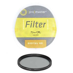 Promaster 77mm CPL Circular Polarizer Digital HD Camera Lens Filter 6455  DR6088