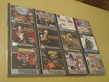 (Lotto PS1) - Crash Bandicoot - Tomb Raider - 12 Games Playstation PS1 PSX PsOne