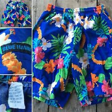 Vintage BLUE HAWAII Shorts Made In Hawaii L 80s 1980s