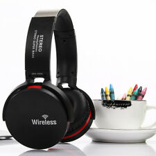 Wireless Bluetooth DJ Bass  Headset Headphones +Mic FM for Smartphones iPad PC