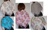 1 Cotton Floral Flower Print Wrap Headwrap Chemo Turban Triangle Head Scarf
