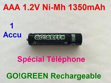 Pile AAA Rechargeables 1350mAh 1.2V NIMH GO! R3 R03 LR3 LR03 Batterie Accu - HOT