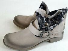 Biondini Stiefeletten Boots grau Echtleder Schlangenprint Gr.40