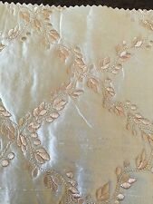 """Silk Embroidery Quilted Rose 3 Yards Width 54"""""""