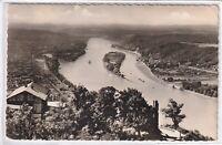 Ansichtskarte Rheininsel Nonnenwerth vom Drachenfels gesehen - schwarz/weiß