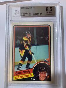 1984-85 Cam Neely OPC O-Pee-Chee  BGS 8.5 Rookie Card #327