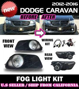FOG LIGHT KIT for 2011 → 2020 DODGE GRAND CARAVAN / Driving Lamp Switch Wiring