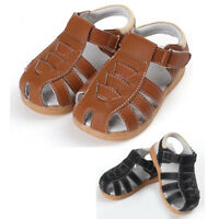Kids Boy's Leather Closed Toe Outdoor Sport Sandals Beach Shoes Water Breathable
