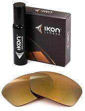Polarized IKON Iridium Replacement Lenses For Oakley Hijinx 24K Gold Mirror