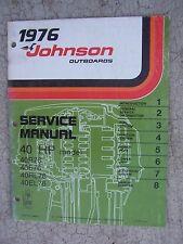 1976 Johnson Outboard Motor 40 HP 40R76 40E76 40RL76 40EL76 Service Manual R