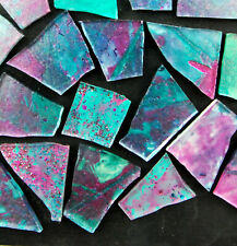 50 pieces of PURPLE AQUA Mosaic Art Glass by Makena Tile