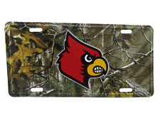 """Louisville Cardinals Ky Camo Camouflage 6""""x12"""" Aluminum License Plate Tag"""