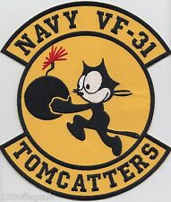 GIANT US Navy VF-31 Tomcatters Embroidered Back Patch Badge *