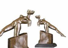 Bronzefigur Skulptur Torso Erotischer Akt Frauenkörper Auf Marmor Sign. Rodin