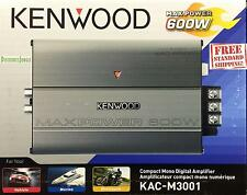 Kenwood Marine Nautic KAC-M3001 Compact Mono 600W Subwoofer Amplifier KACM3001
