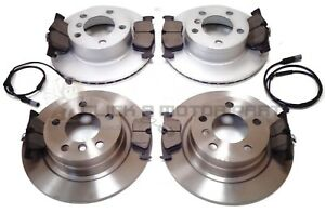 FRONT AND REAR BRAKE DISCS AND PADS FOR BMW 120D LCI FACELIFT 2//2007-7//2012