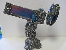 Ornate Small Stained Glass  Pedestal Kaleidoscope