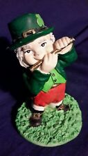 "3.5"" Vintage St. Patrick's Day Flute Playing figurine Ireland Irish Player"