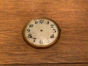 Gilbert Mantle Clock Face & Glass Cover shelf clock vintage clock parts antique