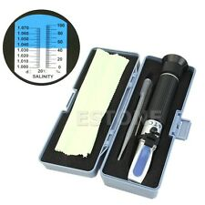 Salinity Salt Refractometer Hydrometer Aluminum For Fish Tank Aquarium 0%-10%