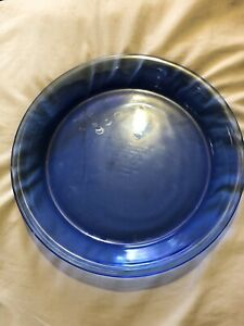 "ANCHOR HOCKING COBALT BLUE GLASS 9"" .75 QUART PIE PLATE OR PAN - MODEL 1060"