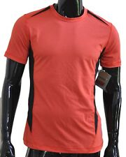 Reebok Sport Compression Short Sleeve Shirt Mens Large L Red Black Free Shipping