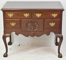 Biggs Kittinger Solid Mahogany Chippendale Lowboy Dresser Williamsburg Style